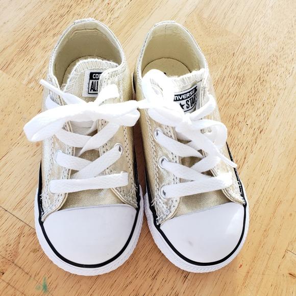 Converse Shoes | Gold Toddler 8 | Poshmark